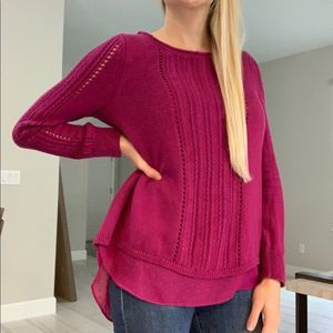 Lucky Brand 2 layer sweater top size S